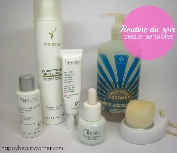 routine soins peau sensible