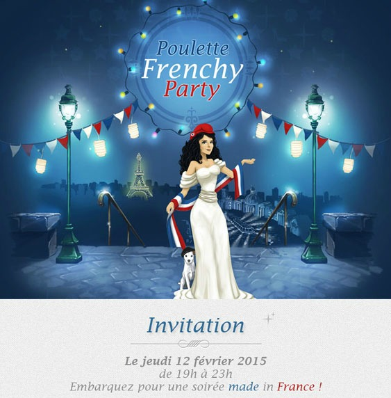 poulette frenchy party