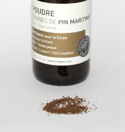 poudre de graines de pin maritime