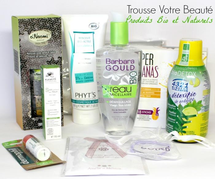 La Trousse Produits Bio et Naturels Votre Beauté