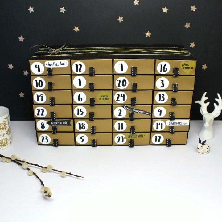 DIY de Noël : Fabrique ton Calendrier de l'Avent Noir et Or