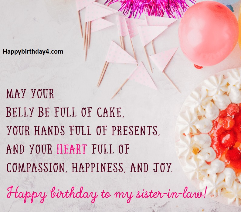 Happy Birthday Wishes For Sisters In Law