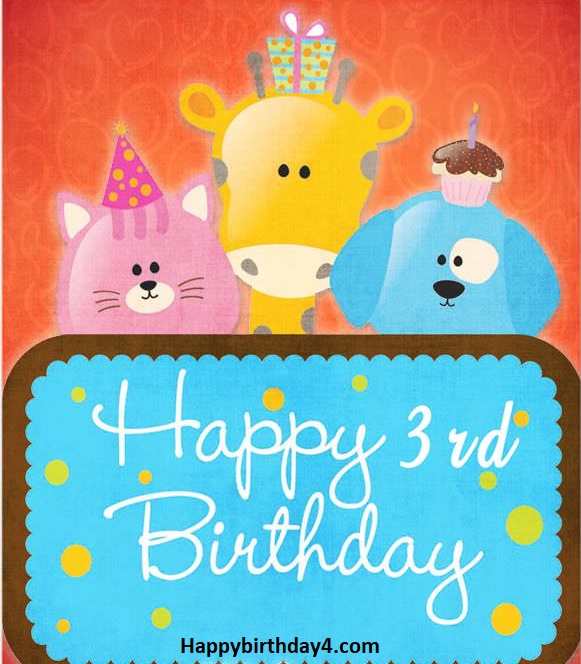 Happy 3rd Birthday Wishes Birthday Messages For 3 Year Old Happy Birthday