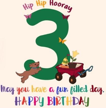 Happy 3rd birthday