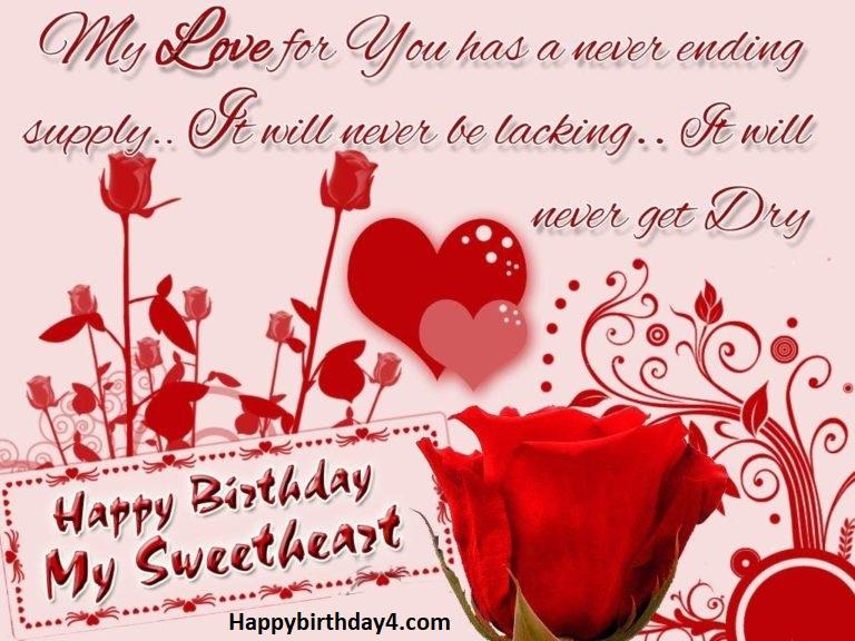 Happy Birthday Sweetheart Wishes To Lover Happy Birthday