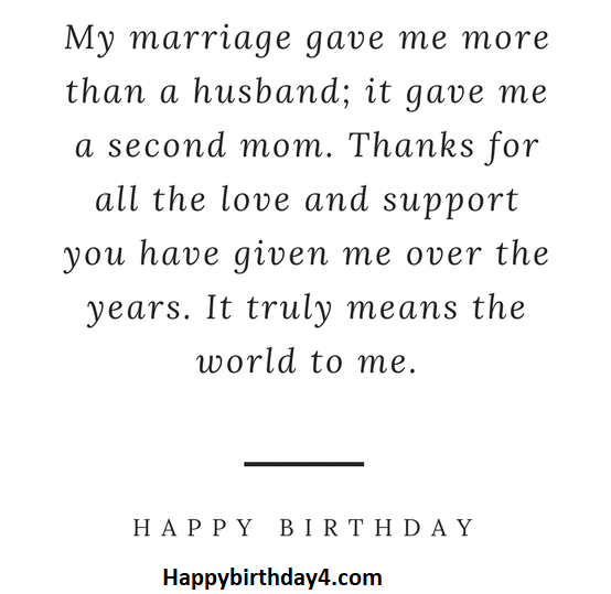 Happy Birthday Mother-in-Law