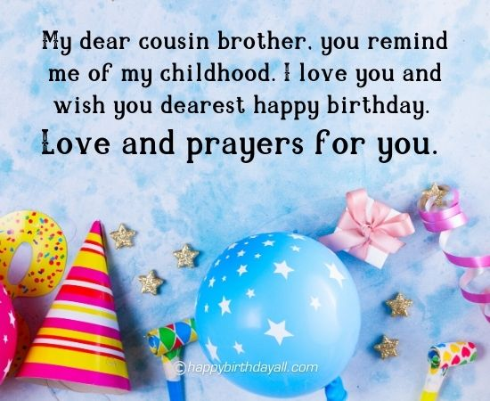 Birthday Wishes For Cousin Brother Birthday Quotes With Images