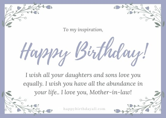Happy Birthday Wishes For Mother In Law Best Quotes Messages