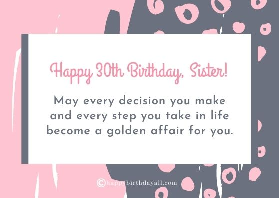 70 Unique Happy 30th Birthday Wishes Messages With Images
