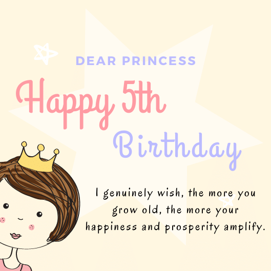 Cute Happy 5th Birthday Wishes Birthday Messages For 5 Years Old