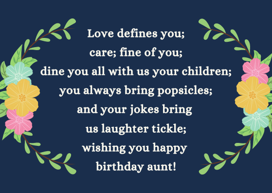 Heart Touching Birthday Wishes For Aunt Happy Birthday Auntie Messages