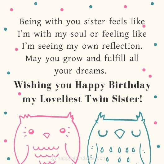 Cute Happy Birthday Wishes For Twins Sisters And Brothers