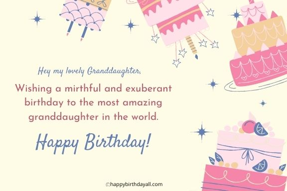 Happy Birthday Wishes For Granddaughter Best Quotes Greetings