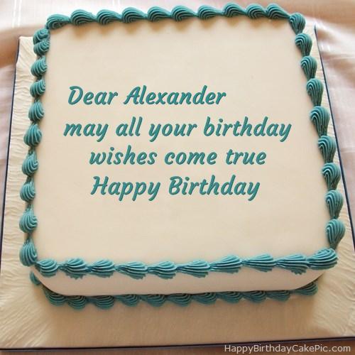 Happy Birthday Cake For Alexander
