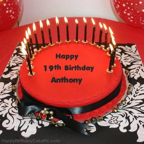 Happy 19th Happy Birthday Cake For Anthony