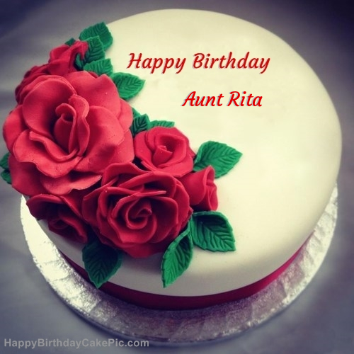 Roses Birthday Cake For Aunt Rita