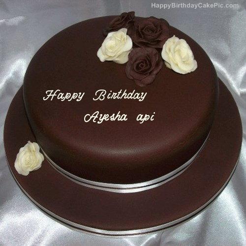 Latest Hd Happy Birthday Cake Pictures With Name Ayesha Hd