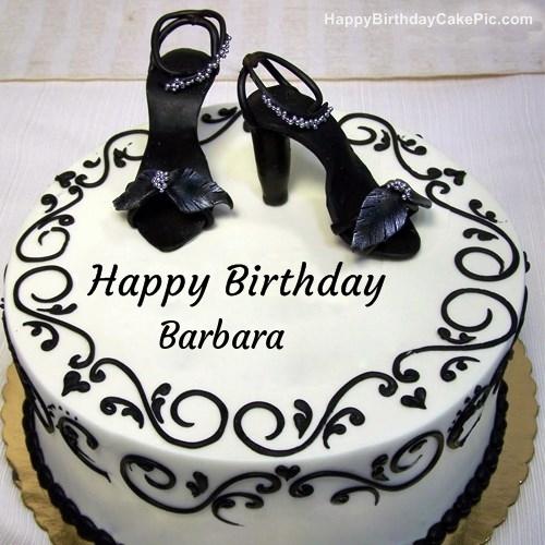Fashion Happy Birthday Cake For Barbara