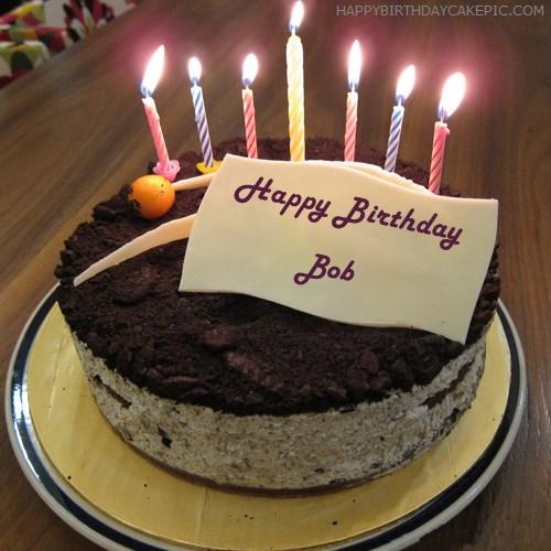 Cute Birthday Cake For Bob