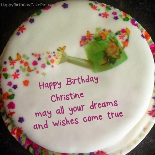 Wish Birthday Cake For Christine