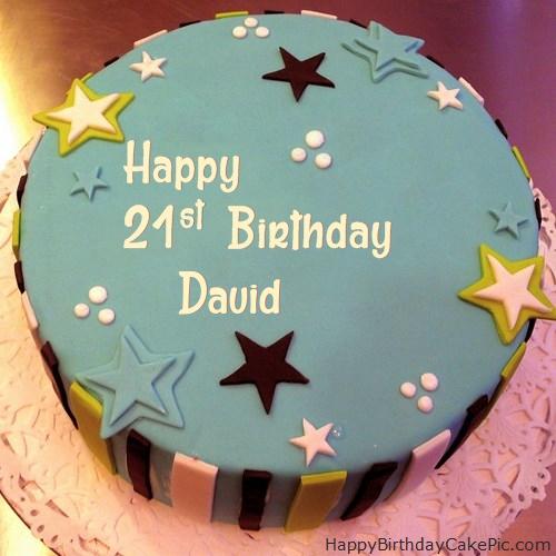 Elegant 21st Birthday Cake For David
