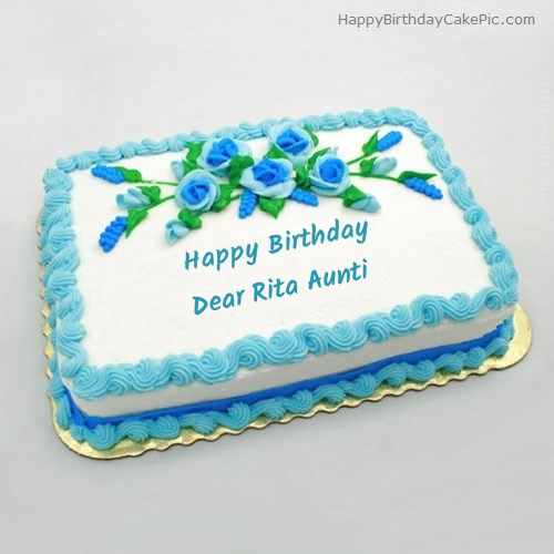 Birthday Flowers Cake For Dear Rita Aunti