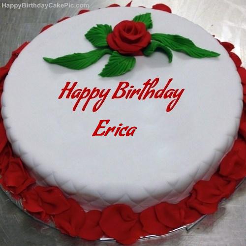 Red Rose Birthday Cake For Erica
