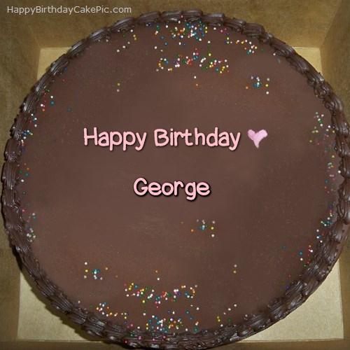 Chocolate Happy Birthday Cake For George