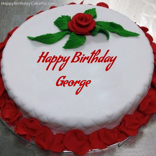 Red Rose Birthday Cake For George