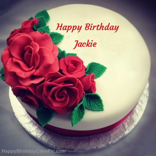 Roses Birthday Cake For Jackie
