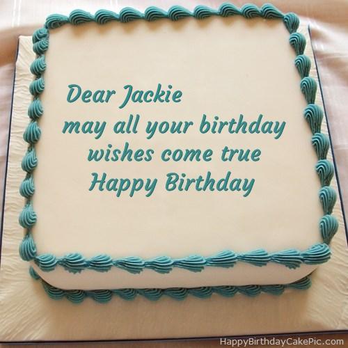 Happy Birthday Cake For Jackie