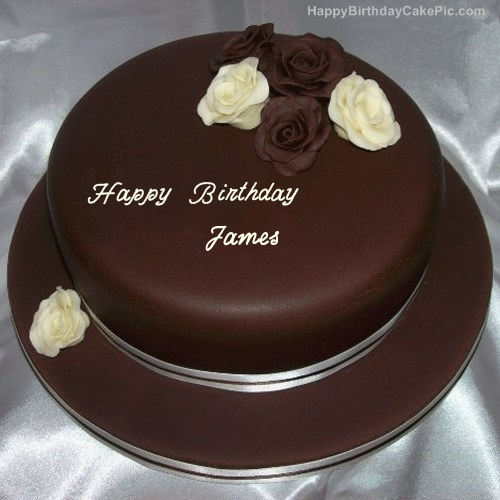 Rose Chocolate Birthday Cake For James
