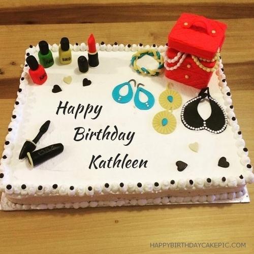 Cosmetics Happy Birthday Cake For Kathleen