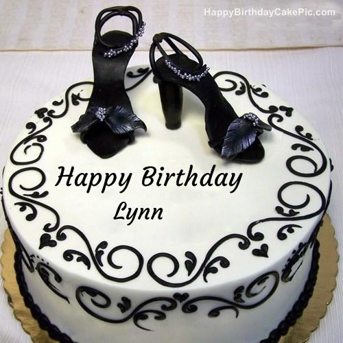 Fashion Happy Birthday Cake For Lynn