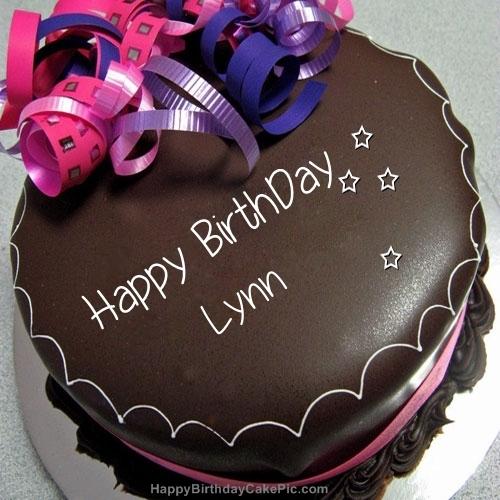 Happy Birthday Chocolate Cake For Lynn