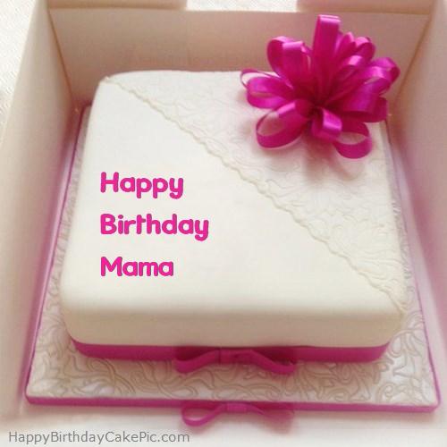 Pink Happy Birthday Cake For Mama