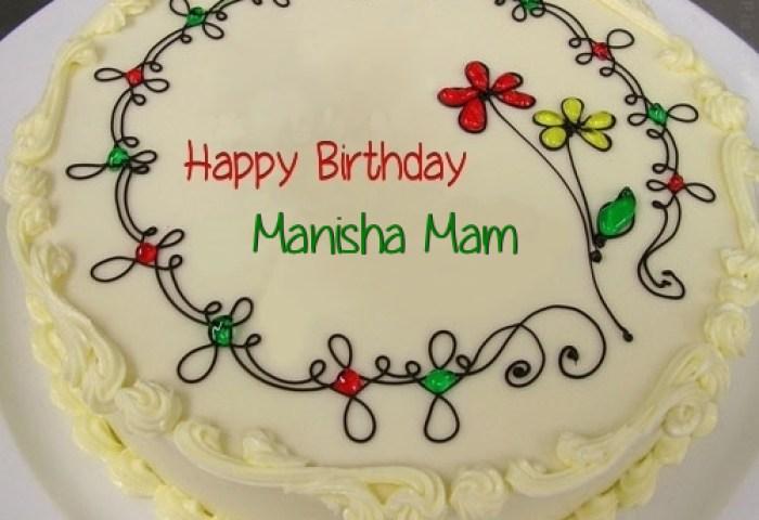 Birthday Cake With Name Manisha The Cake Boutique