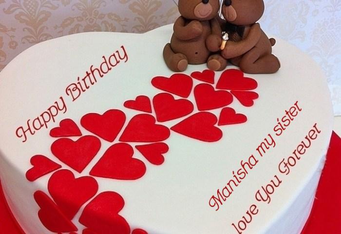 Birthday Cake Images With Name Manisha Makeup