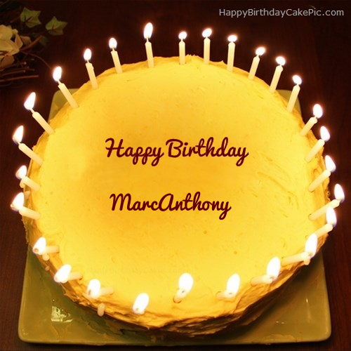 Candles Birthday Cake For Marcanthony