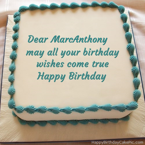 Happy Birthday Cake For Marcanthony