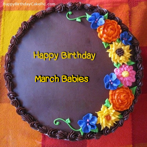 Awesome Flower Birthday Cake For March Babies