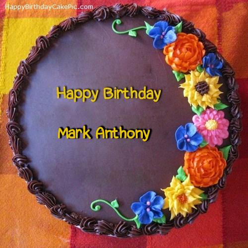 Awesome Flower Birthday Cake For Mark Anthony