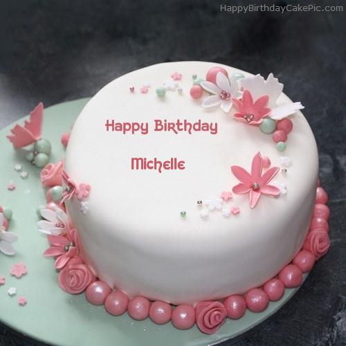 Flowers Elegant Cake For Michelle