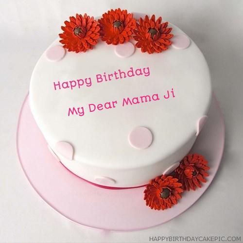 Happy Birthday Cake For My Dear Mama Ji