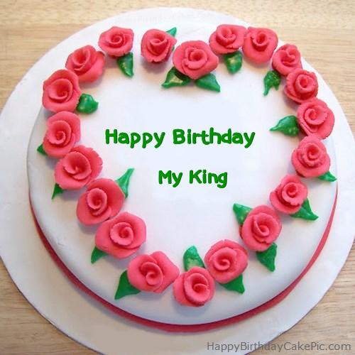 Roses Heart Birthday Cake For My King