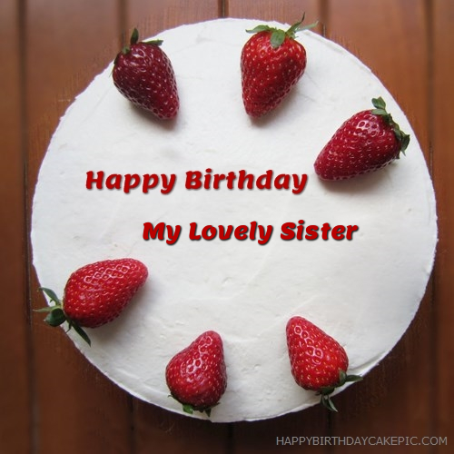 Happy Birthday My Lovely Sister Cake Images The Best Hd Wallpaper