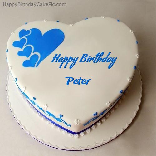 Happy Birthday Cake For Peter
