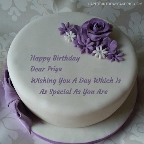 Birthday Cake Pic With Name Priyanka Labzada Wallpaper