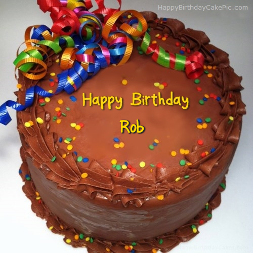 Party Birthday Cake For Rob