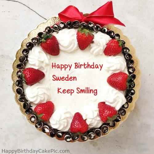 Happy Birthday Cake For Girlfriend Or Boyfriend For Sweden